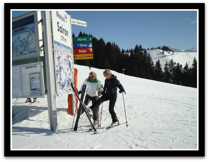skiing Jane and rhee