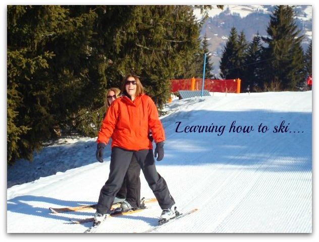 teaching H to ski ing