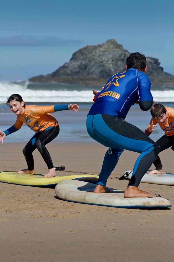 Surfing Crantock