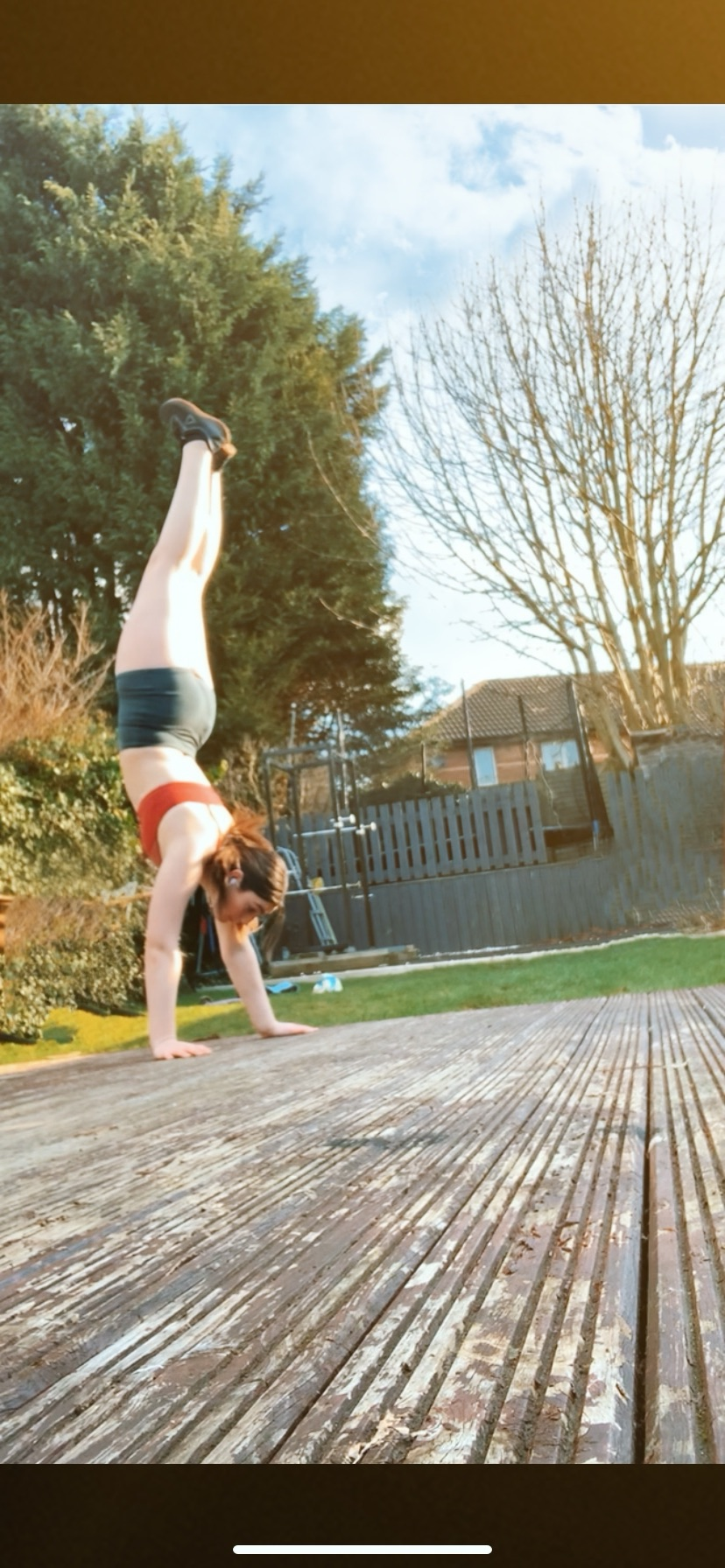 Molly handstand walking with Type 1 Diabetes