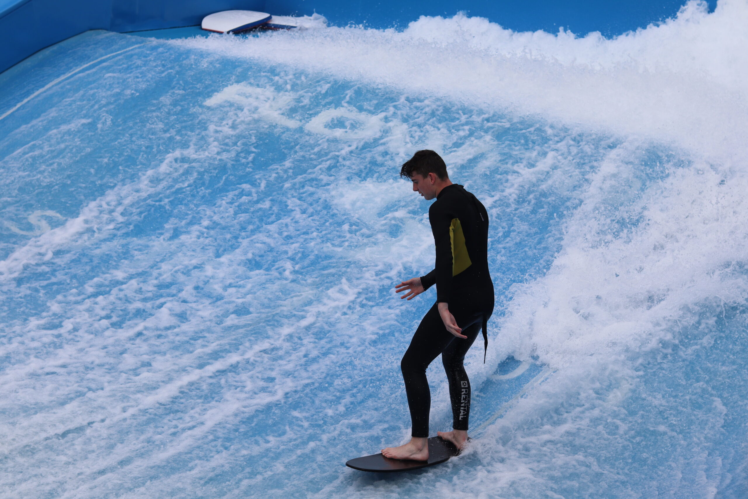 Flowrider at Rettallack: things to do with teenagers in cornwall